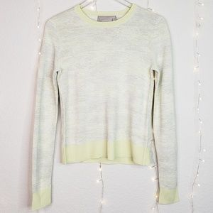 Jason Wu Long Sleeve Abstract Stripe Pullover XS